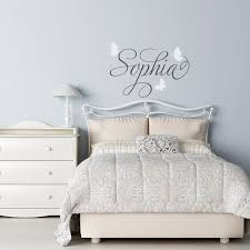 Custom Nursery Wall Decals Personalized Butterfly Name Decal Name Wall Decal Butterfly