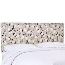 Linen Upholstered King Headboard Winter Crane Linen Upholstered California King Headboard Rc