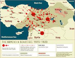 Ottoman Empire Borders Armenian Genocide