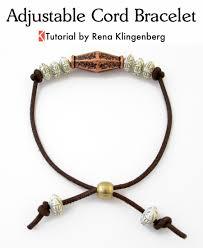 make leather cord bracelet images Adjustable cord bracelet tutorial jewelry making journal jpg