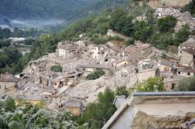 Italy Earthquake Map by Italian Towns Before And After The Earthquake The New York Times