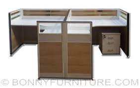 Office Table L Hy4502 L Type Office Table With Partition Bonny Furniture