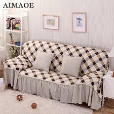 housse extensible canapé angle coton et polyester moderne plaid dentelle en forme de l canapé angle