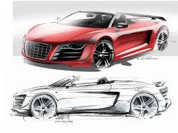 Audi R8 Gt Spyder - audi r8 gt spyder design sketch 1 supercar sketches