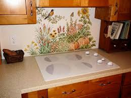 tile murals for kitchen backsplash espinosa s flower garden diagonal kitchen backsplash tile mural