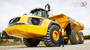 volvo haul trucks for sale volvo a60h articulated dump truck first test drive youtube