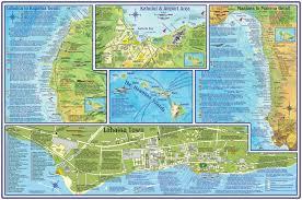Kahului Airport Map Maui Hawaii Adventure Guide Franko Maps Waterproof Map Franko