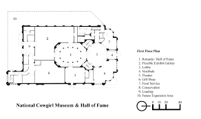 museum floor plan design national cowgirl museum u0026 hall of fame designed by dmsas