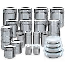 buy branded 44 pcs stainless steel storage set online at best branded 44 pcs stainless steel storage set