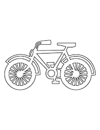 drawing bicycle colouring page happy colouring