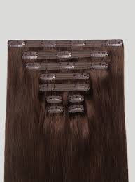 in hair extensions clip in hair extensions chocolate brown color 4 120 grams luxy hair