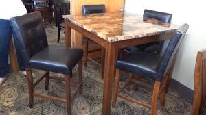 ashley theo dinette counter height table set d158 review youtube
