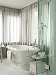 Curtains Bathroom White Drapery Bathroom Curtains Home Interiors