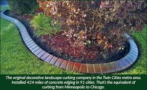 landscping gallery4 janesville brick curb creations mn concrete curbed edging near me