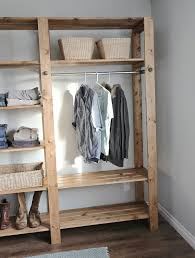 Simple Wooden Shelf Plans by Ana White Industrial Style Wood Slat Closet System With