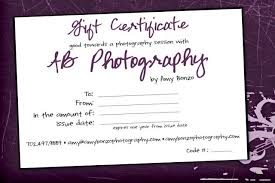 custom gift certificates gift certificates ab photography las vegas photographer