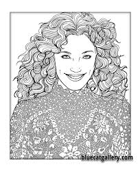color beautiful women coloring book