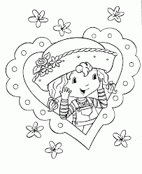 krafty kidz center strawberry shortcake coloring pages