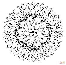 floral tribal mandala coloring page free printable coloring pages