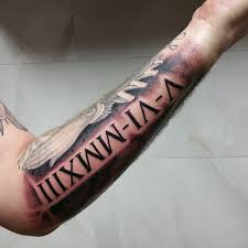 Numerals On Forearm 70 Numeral Tattoos Ink Will Drool