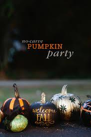 halloween decorations for pumpkins no carve pumpkin decorating party