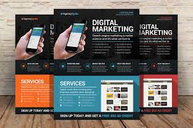 advertising template free digital marketing flyer psd flyer templates creative market