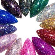 holographic glitter glitter stiletto acrylic nails holo press on nails