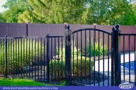 accent gates make fence installs look great pvc vinyl wood grain