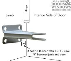 How To Install A Lock On A Cabinet Door Installing And Adjusting Pneumatic Storm Door Closers