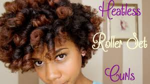 hair growth with wet set hairstyle how to heatless roller set curls on natural hair youtube