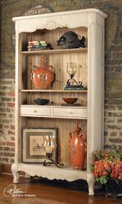 sylvianne french country tall hutch shelf unit display storage