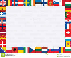 Flags Of Countries In Europe Background With European Countries Flags Stock Vector Image