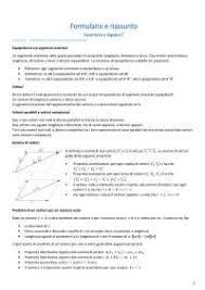 dispense algebra lineare formulario geometria e algebra lineare docsity
