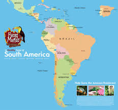 Map Of Middle America by Postcards On My Wall South America Map Guyana Geo Map South