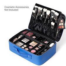 professional makeup artist bag gifts for women rownyeon pu leather makeup bag portable makeup