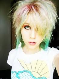 funky emo hair colors for ladies women medium haircut