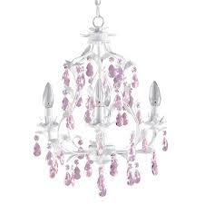 Pink Chandelier Burleson Pretty Pink Chandelier For Girls Room Homesfeed
