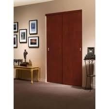Impact Plus Closet Doors Truporte 72 In X 80 In 2310 Series Cherry 3 Lite Tempered