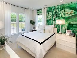 apartment bedroom yellow green wall paint combination in modern