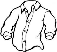 clothes coloring pages shirt clipart free clipart