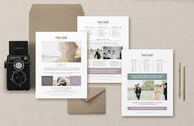 photography pricing template wedding magazine price list