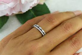 delicate wedding bands deco wedding band and half eternity band delicate bridal