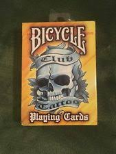 bicycle club tattoo playing cards yellow deck skin art poker by
