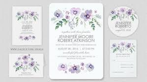 Lavender Wedding Invitations Modern Wedding Wedding Invitations By Jinaiji