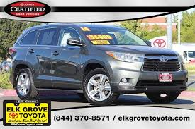 certified toyota highlander certified pre owned 2014 toyota highlander ltd 4d sport utility in