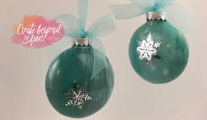 let s make diy marbleized ornaments create beyond the lines