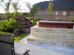 back yard landscaping with tub houston backyard patio covers