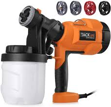 can you use a paint sprayer to paint kitchen cabinets paint sprayer high power hvlp home electric spray gun adjustable valve knob refill lid 4 nozzle sizes tacklife sgp15ac