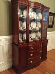 amazing antique drexel oversized bowfront china cabinet breakfront