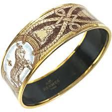 design bangle bracelet images Vintage hermes cloisonne enamel horse and tassel fringe design jpg